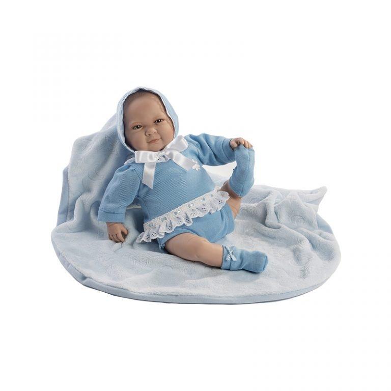 Pau llorón traje azul y mantita 45 cm