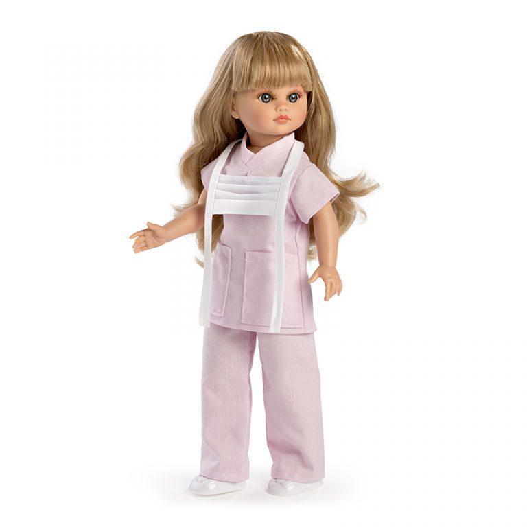 Muñeca Fany enfermera rosa 42 cm