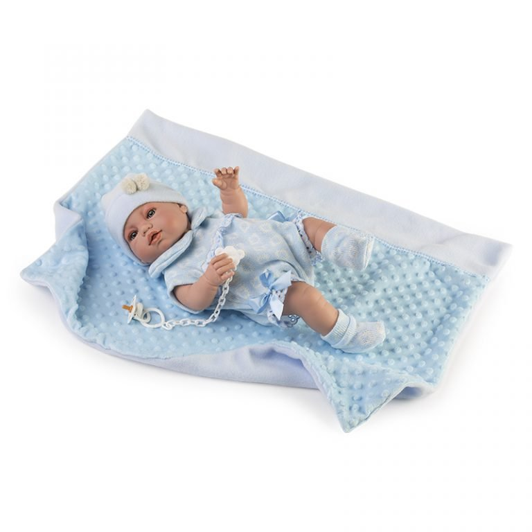 Baby Recién Nacido pelele y mantita azul