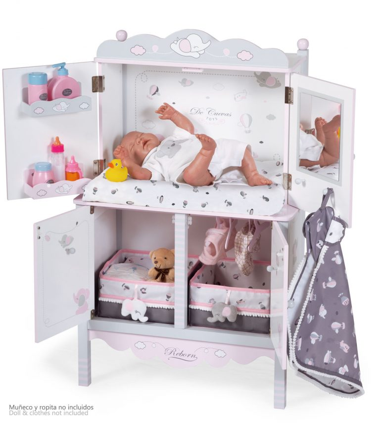 ARMARIO CAMBIADOR de madera REBORN para muñecas