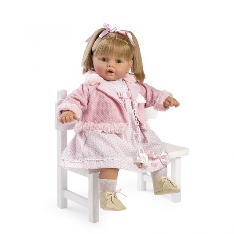 Baby dulzona llorona traje y chaqueta rosa 62 cm