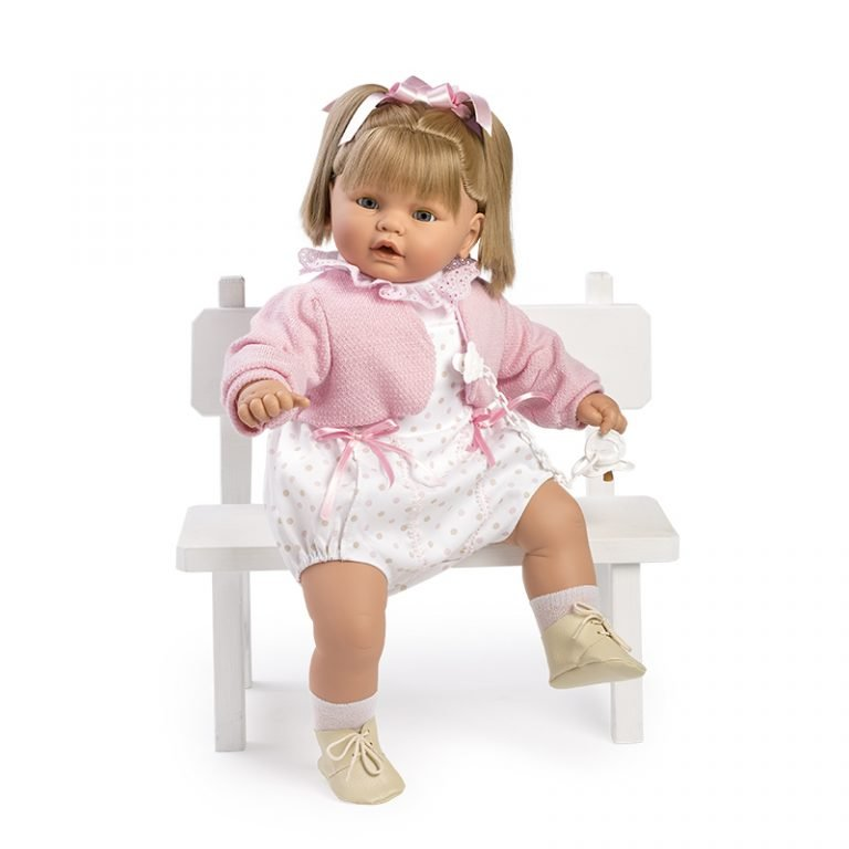 Baby dulzona llorona pelele y chaqueta rosa 62 cm