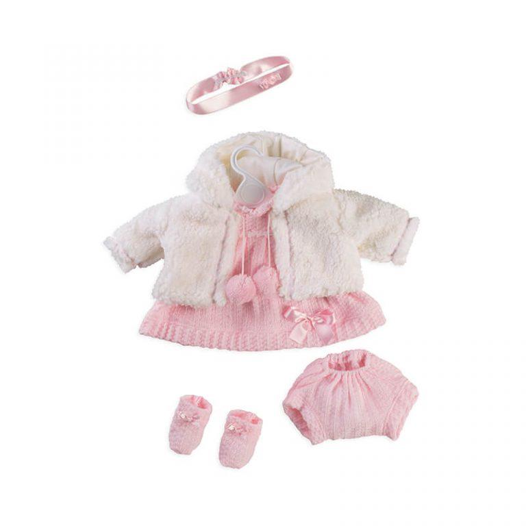 Conjunto vestido y chaqueta de borreguillo 52 cm